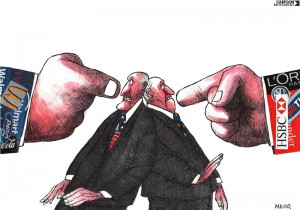 World, 14 May 2014 There is no doubt that multinationals wield considerable political power, but how much power? De politieke macht van multinationals Silvano Mello/Cartoon Movement/Hollandse Hoogte