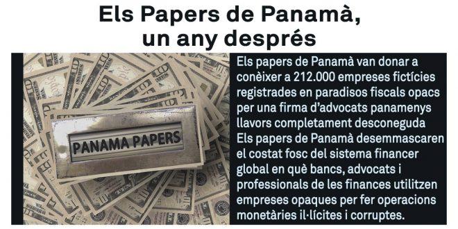 """Conferència-debat: """"Els Papers de Panamà, un any després"""""""