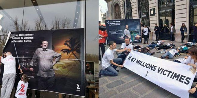 Attac Francia vuelve a la acción: ¡67 millones de víctimas de la evasión de impuestos!