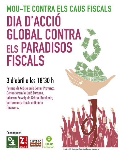 3 ABRIL DIA D'ACCIÓ GLOBAL CONTRA ELS PARADISOS FISCALS